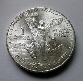 1983 Mexican Onza Libertad 1oz .999 Silver