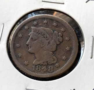 1848 Braided Hair Large Cent - Fine