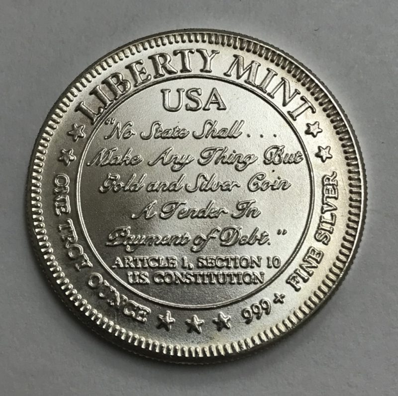 Liberty Mint Uss Constitution 1 Troy Oz 999 Fine Silver