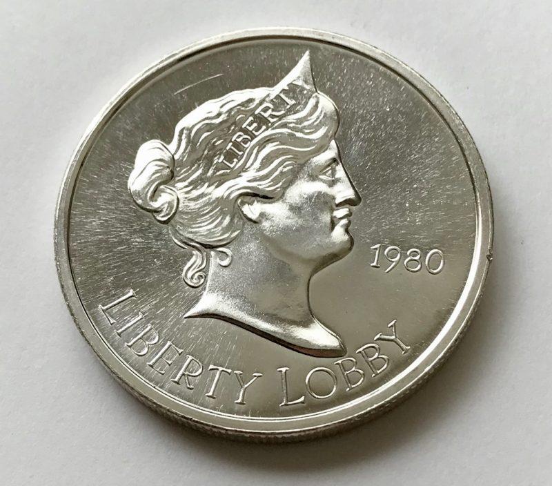 1980 Liberty Lobby Vintage 1 Troy Oz 999 Fine Silver