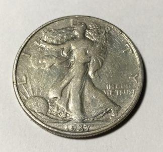 1937-S Silver Walking Liberty Half Dollar VF #3791