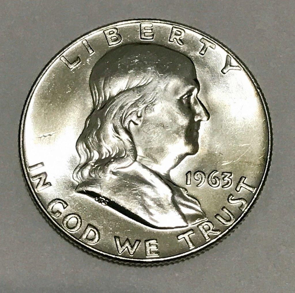 1963-D Silver Franklin Half Dollar #3887