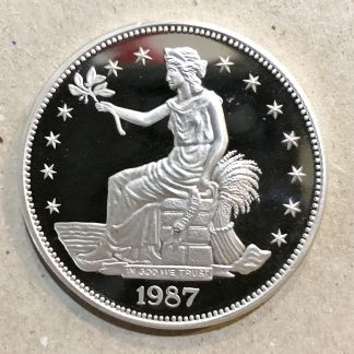 2000 Rare NORFED Proof Round Collectible 1 Troy Oz .999 Fine Silver Liberty Head